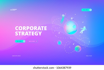 Corporate strategy web banner