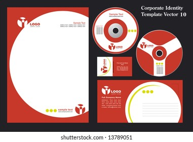 Corporate Vector Business Template 10