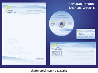 Corporate Vector Business Template 12