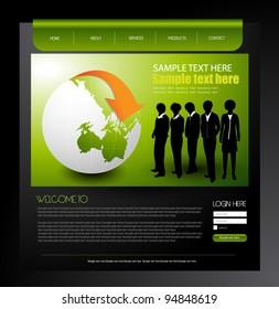 corporate web design template