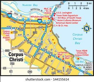 Corpus Christi Map Of Texas.Corpus Christi Texas Map Stock Vectors Images Vector Art