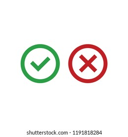 Correct or false icon vector. Correct or false symbol. Linear style sign for mobile concept and web design. Correct or false symbol illustration. Pixel vector graphics - Vector.