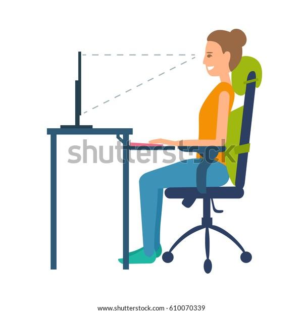 Cuscino Per Seduta Corretta.Immagine Vettoriale Stock 610070339 A Tema Posizione Corretta