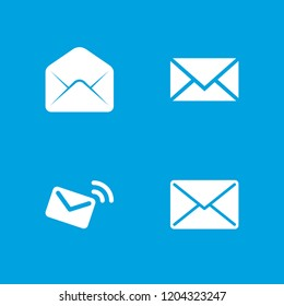 Correspondence icon. collection of 4 correspondence filled icons such as mail. editable correspondence icons for web and mobile.