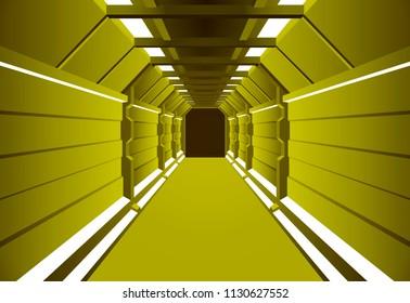 Corridors secret Building. vector illustration