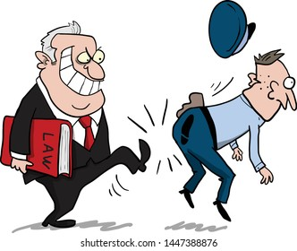 Corrupt businessman or politician getting away from the law