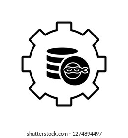 Corruption, fraudulent financial technology. Vector icon isolated on white background.