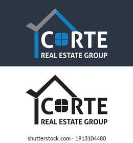 CORTE Real Estate Group logo design free vector