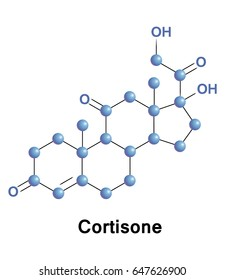 Cortisone is a pregnane steroid hormone. It is one of the main hormones released by the adrenal gland in response to stress. In chemical structure, it is a corticosteroid closely related to cortisol