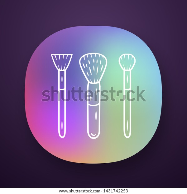 Cosmetic Accessories Makeup Tools App Icons Stock Vector (Royalty