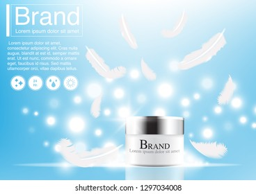 Cosmetic Ad Concept Mockup 3 D Illustration Stock Vector (Royalty