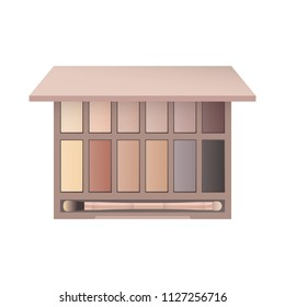 Cosmetic Beauty Makeup Eyebrow Palette Vector Icon Symbol Illustration