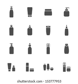Cosmetic bottle icons
