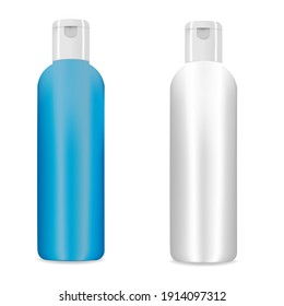 Cosmetic bottle mockup cap isolated on white background. Vector illustration