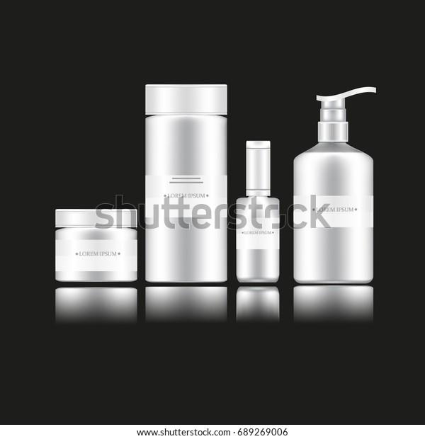Cosmetic Bottles 3d Models Moisturizer Cream Stock Vector (Royalty