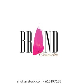 cosmetic brand logo vector isolated on white