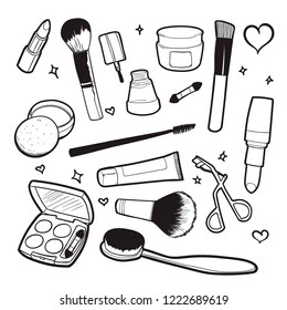 cosmetic doodle vector illustration