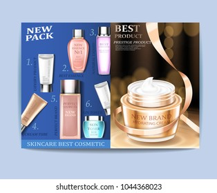 Cosmetic magazine design. Best care, can be used for different projects.