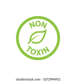 cosmetic non toxin icon vector template