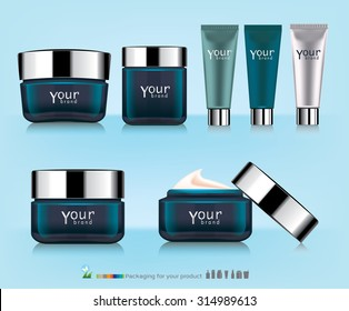 Cosmetic packaging, plastic tube. Vector.