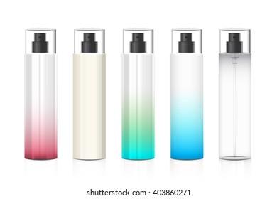 Cosmetic plastic bottle on white background vector design