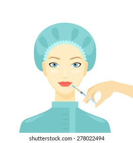 Cosmetic procedure of Botox injection