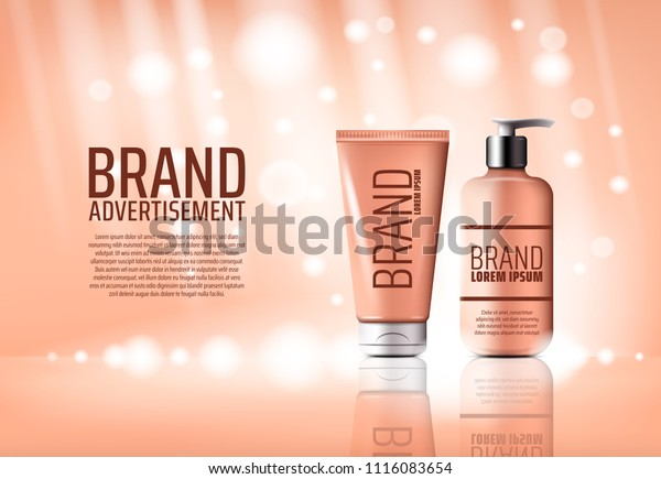 Cosmetic Product Brand Advertising 3d Poster Stock Vector Royalty Free 1116083654