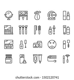 Cosmetics and beauty icon set.Vector illustration