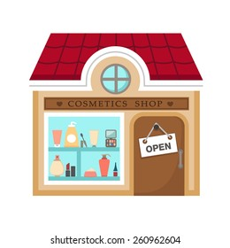 cosmetics stores vector illustration on white background