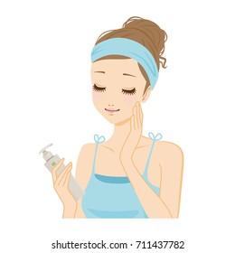 Cosmetics and women.