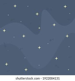 Cosmic Background Magic Blue Sky Stars Vector Design