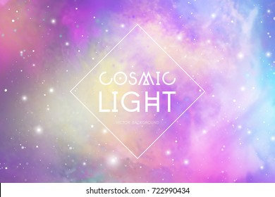 Cosmic light abstract glowing background.