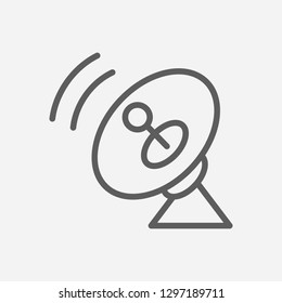 Cosmic radar icon line symbol. Isolated vector illustration of  icon sign concept for your web site mobile app logo UI design.