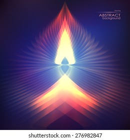 Cosmic shining vector fire abstract background