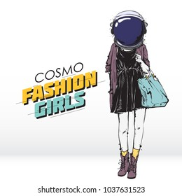 Cosmo fashion illustration. Vector collection.