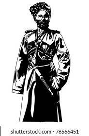 Cossack1 Black and White