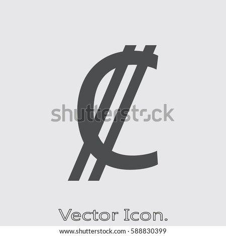 Costa Rica Colon Icon Isolated Sign Stock Vector Royalty Free