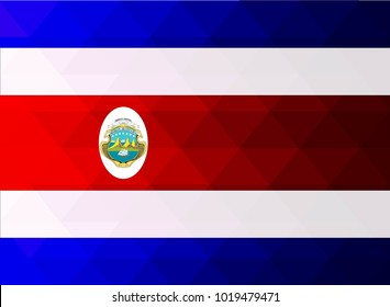 Costa Rica Flag vector illustration. Costa Rica Flag. National Flag of Costa Rica.