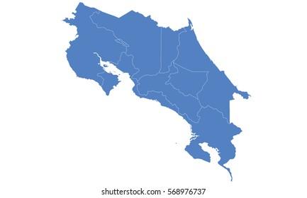 Mapa De Costa Rica.Imagenes Fotos De Stock Y Vectores Sobre Mapa De Costa Rica