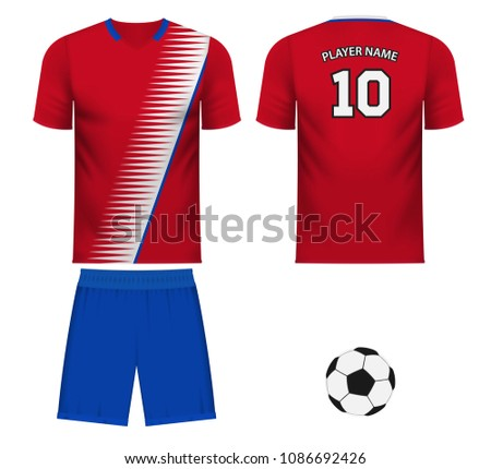 new products b2a00 78712 Costa Rica National Soccer Team Shirt Stock Vector (Royalty ...