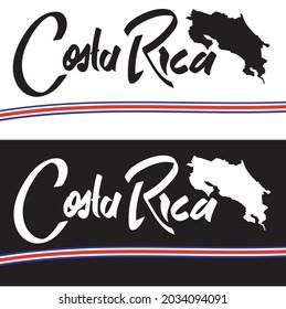 Costa Rica Typography logo vector