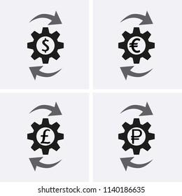 Costs optimization Icons. Vector set