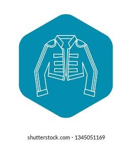 Costume of toreador icon. Outline illustration of costume of toreador vector icon for web