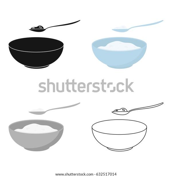 Cottage cheese icon cartoon. Single bio, eco, organic product icon from the big milk cartoon.