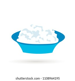 Cottage cheese isolated on white.Vector design