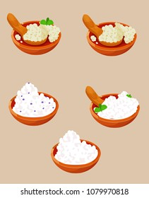 cottage cheese, vector