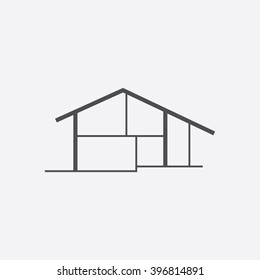 Cottage Icon Vector.