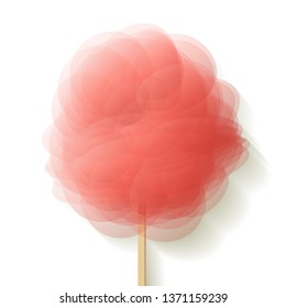 Cotton candy Coral color on a white background