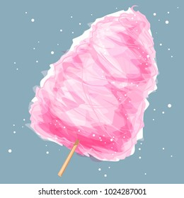 Cotton candy, vector