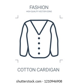 cotton cardigan icon. high quality line cotton cardigan icon on white background. from fashion collection flat trendy vector cotton cardigan symbol. use for web and mobile